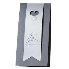 """Einladungskarte """"Elena"""" - in Silber"""
