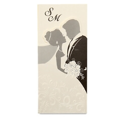 Hochzeitseinladung Jemina Brautpaar