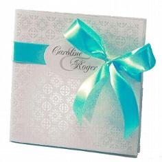 Einladung zur Hochzeit Lizzy in türkis