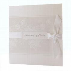 """Hochzeitseinladung """"Louise"""" - Blumenmuster"""