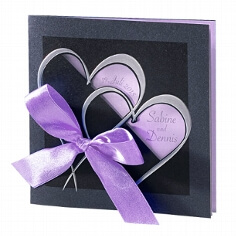 Einladungskarte zur Hochzeit Martina in flieder
