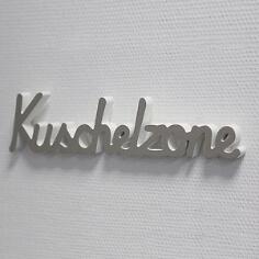 """Geschenkidee Holzschriftzug """"Kuschelzone"""""""