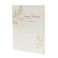 "Hochzeitskarte ""Cassandra"" als Menükarte, Kirchenheft, etc."