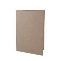 Hochzeitskarte B6 aus sandfarbenen Kraftpapier
