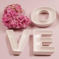 Hochzeitsvase Buchstabenschale LOVE