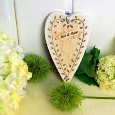 "Holzanhänger ""Mr & Mrs"" als Geschenk"