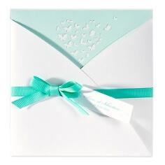 """Einladungskarte """"Jelena"""" mit Schmetterlingen"""