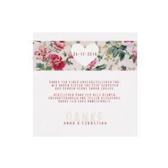 Dankeskarte mit Blüten Aufdruck
