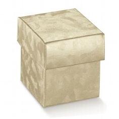 """Kartonage """"Würfel"""" gold - für die Hochzeitsfeier"""