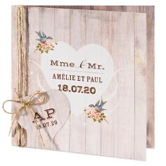 Hochzeitseinladung in Holzoptik