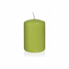 """Kerze """"Farbenfroh"""", klein, grün"""