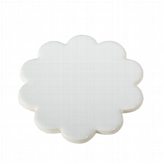 Keramik-Untersetzer in Blumenform, weiß