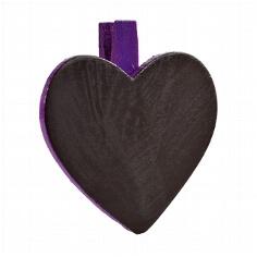 Pflaumen-farbige Deko-Klammern in Herzform zur Hochzeitsdekoration