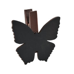 Klammer-Schmetterling-braun
