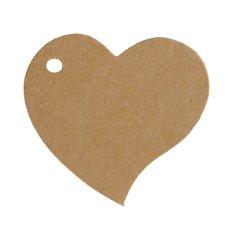 Kraftpapier Anhänger Herz, vintage