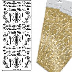 """Kreativ Sticker """"Menü"""", klein, gold"""