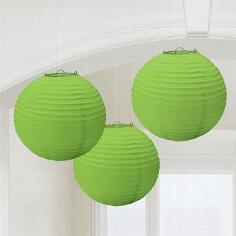 Lampions, rund, grün