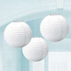 Lampions, rund, weiß