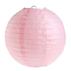 Lampions-rund-rosa