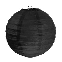 Lampions-rund-schwarz