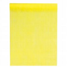 Gelber Tischläufer aus Vlies für die Hochzeitstafel