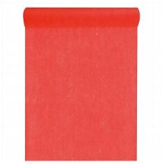 Roter Tischläufer aus Vlies zur Hochzeitsdeko
