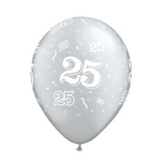 """Luftballons """"25"""", silber, 25 St."""