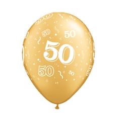 "Luftballons ""50"", gold, 25 St."