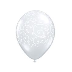 "Luftballons ""Ornamente"", transparent, 50 St."