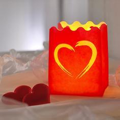 Rotes Windlicht klein mit Herz