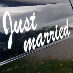 Autodeko zur Hochzeit