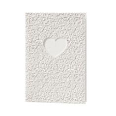 Hochzeitskarte in klassischem Weiß