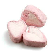 Gastgeschenk Marshmallow Herzen zur Hochzeit