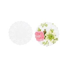 Mini Doilies Blütentraum, 100 St. - Blumenmuster