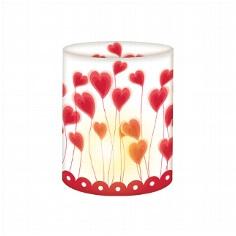 """Mini-Tischlichter """"Herzblumen"""", 5 St. - Tischlicht in Rot, Weiß"""
