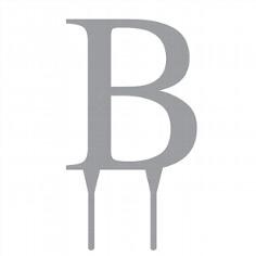 """Tortenfigur Monogramm """"B"""""""