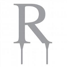 Tortenfigur Monogramm R