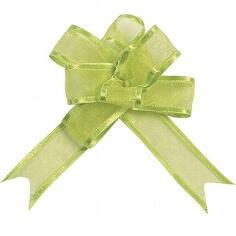"""Organzaschleife """"Mini"""" grün für Ihre Hochzeitsdeko"""