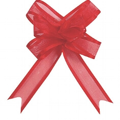 """Organzaschleife """"Mini"""" rot für Ihre Hochzeitsdeko"""