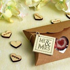 Geschenkanhänger Mr & Mrs