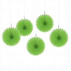 Papierdeko Fächer, grün