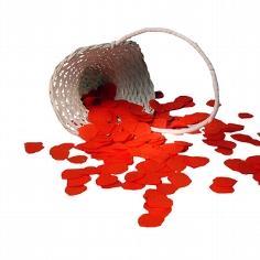 Streudeko für Blumenkinder - Papierkonfetti Herz in Rot