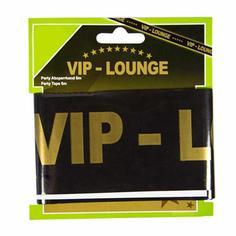 "Schwarzes Absperrband ""VIP Lounge"""