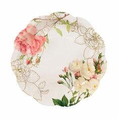 Partteller mit Blütenaufdruck