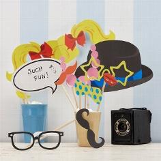 """Photobooth Kit """"Pop Art"""" für die Hochzeitsfeier"""