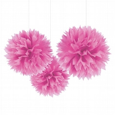 Pompoms Fluffy, fuchsia