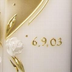 Wachspunkte in gold