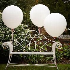 Riesen-Luftballons, 3 St., weiß