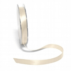 Satinband, 10 mm, 10 m beige