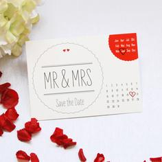 "Save the Date Karte ""Mr & Mrs"""